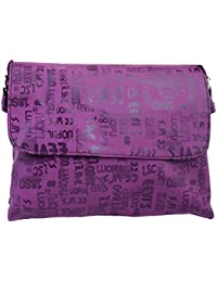 Super Drool Purple And Fonts Sling Bag(2LITRES