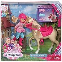 Mattel X8412 Barbie e le sue sorelline - Bambola Chelsea con pony
