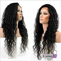 Remeehi 100% Brazilian Remy capelli umani lunghi capelli ricci parrucca anteriore pizzo Baby Naturale Intorno