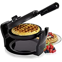 Duronic WM11 /BK Macchina per cialde waffle elettrica automatica 1100W – piastra waffle cialdiera crepes