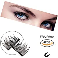 NUEVO magnética pestañas postizas Ultra Thin 3d de fibra reutilizables mejor falso pestañas Extension para la natural, perfecto para tiefliegende Ojos & redondas Ojos 1 par (4 unidades)