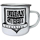Nueva Moda Calle Urbana Ropa Retro, lata, taza del esmalte 10oz/280ml l969e