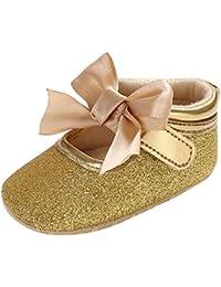 b32726ecc3184 POIUDE Chaussure Bebe Soft Sole Paillettes Chaussures Au Lacet