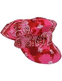 Ballonmütze Paisley Rot
