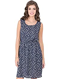 CAY Blue Printed Pattern Stylish and Comfortable One Piece Woman's Western Wear