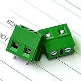 ELECTRONICS-SALON 10pcs 2polos 7,5mm PCB universal Tornillo Bloque De Terminales.