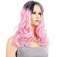 Mujer Mujeres pelo largo rizado peluca pelucas Wig Color Marrón Oscuro para Carnaval o Disfraz Cosplay