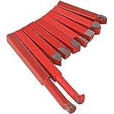 cnbtr 10mm Rojo YG8Conjunto cortador de herramientas de corte de aleación de Inserto de metal duro herramienta de giro de torno Bit–Pack de 9