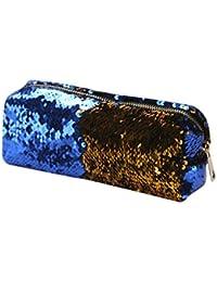 d6908be61c1c2 Amlaiworld Unisex moda doppio colore paillettes cosmetici borsa pochette  make up