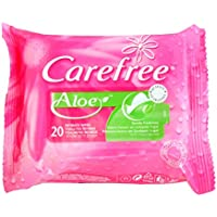 Carefree - Toallitas Intimas Aloe, 20 unidades