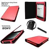 Spartechnik - Funda para e-reader Sony PRS-T2 (con función atril y soporte para lápiz capacitivo), color rojo