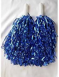5pares de animadora pompones para despedida Fancy vestido azul