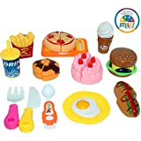 Smiles Creation Fast Food Lunch Play Set Toy for Kids