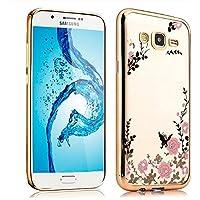 Skitic Farfalla Fiori Custodia per Samsung Galaxy A8, Secret Garden