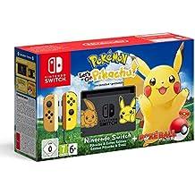 Nintendo Switch: Consola edición Pokémon + Let\'s Go Pikachu (Preinstalado) + Poké Ball Plus (Edición limitada)