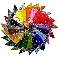 Lot de 12bandanas motif cachemire 100% coton, 12couleurs