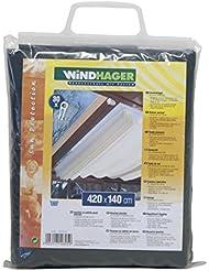 Windhager Sonnensegel für Seilspanntechnik, Uni-Grün, 420 x 140 cm
