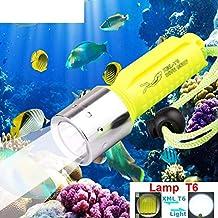 Linterna de Buceo Profesional 130M, Heligen LED Linterna de Buceo de Submarinismo para Submarina,