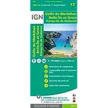 IGN 75 000 Touristische Wanderkarte 17 Golfe du Morbihan - Ile Groix - Belle Ile