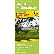 Müritz-Nationalpark: Rad- und Wanderkarte mit Ausflugszielen, Einkehr- & Freizeittipps, Nebenkarte Müritz Nationalpark, östlicher Teil, Straßennamen, ... 1:50000 (Rad- und Wanderkarte / RuWK)