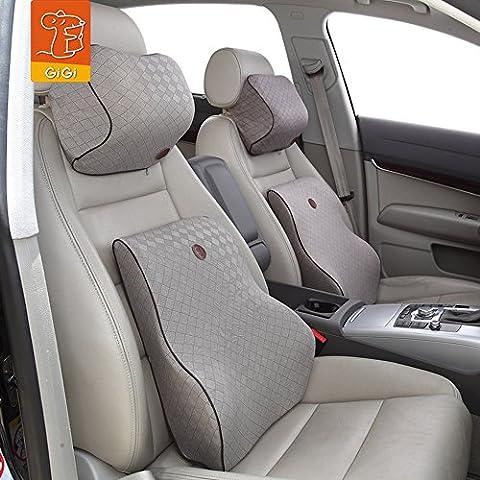 GIGI in LATTICE a saponetta alti Premium per Auto-Cuscino lombare & Cuscino per collo kit da Auto (Ambra)