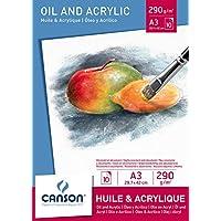 Canson 384318 Blocco per Olio e Acrilico
