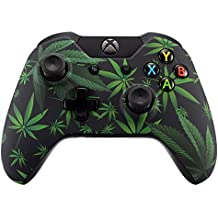 eXtremeRate® Funda Carcasa Frontal Cubierta Shell Superior Antideslizante para Mando inalambrico Xbox One (Marihuana)
