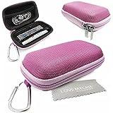 Stylebitz / Étui rigide pour MP3 + écouteurs, mousqueton en métal pour Apple iPod Nano 7è génération avec chiffon de nettoyage Stylebitz (rose pastel)