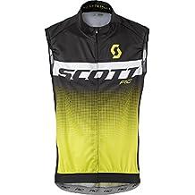 Scott RC Pro bicicleta Wind Chaleco Negro/Amarillo 2017, primavera/verano, hombre, color black/sulphur yellow, tamaño XL