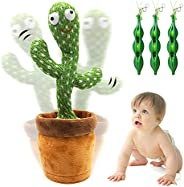 Dancing Cactus Plush Toy – By REIMAS   Sings 120 Songs, Glow & Repeat words for Fun Early Education Toy  