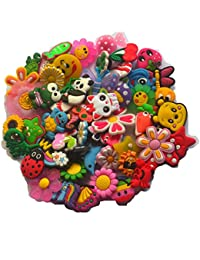 50 Pcs Different Shoe Charms for Croc Shoes & Bracelet Wristband Kids Party Birthday Gifts