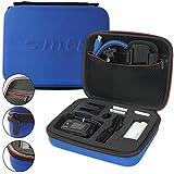 mtb more energy® Estuche (XL, Azul) para Sony FDR-X1000V / HDR-AZ1, AS15, AS20, AS30V, AS50, AS100V, AS200V - Bolsa Funda Sistema modular