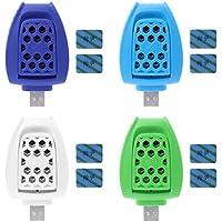 Simplelife - Calefactor eléctrico portátil con USB antimosquitos para casa, Viajes, al Aire Libre, Color al Azar, 1,5 x 4,7 x 8 cm