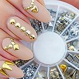 Tongshi Remache punky del clavo de la decoración del arte pegatinas metálicas de oro Clavos de las extremidades del clavo de DIY