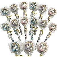 24x lápices con goma unicornio & # X2503; El aniversario de niño & # X2503; Pequeño regalo del arco de cielo unicornio & # X2503; escolar