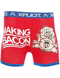 Xplicit Funny Rude 'Making Bacon' Men's Novelty Boxer Shorts