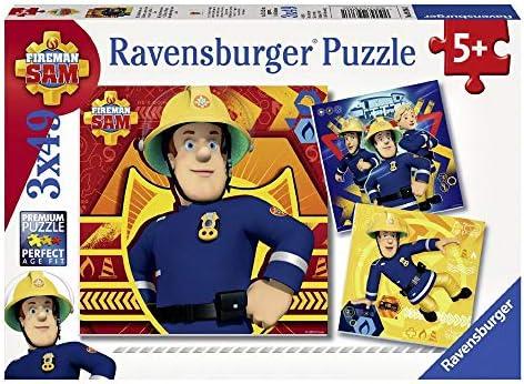 Ravensburger Puzzle Box | 3x49 Parties | Sam Le Pompier | FireFemme Sam |  s | Le Prix De Marché