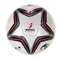 Five-point Star PU Inflatable Durable Football (Synthetic Leather Soft Touch Soccer Balls) for Younger Teenager Game Soccer Training