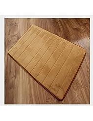 M-G-X corail Cachemire mémoire coton anti-dérapant absorbants tapis rebond lent tapis tapis de bain de cuisine salle de bain