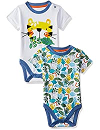 Mothercare Baby Boys' Cotton Bodysuit (Pack of 2)