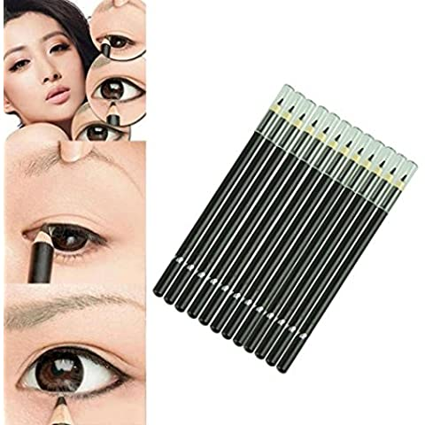 Delineador de ojos a prueba de agua,Internet 12pcs / set Marca de ojos líquido del lápiz
