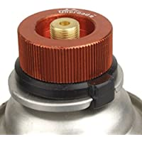 NaiCasy Outdoor Camping Stove Adaptor, Split Type Furnace Converter, Zinc Copper Connector Auto de Off Gas Cartridge Tank Cylinder Adaptador