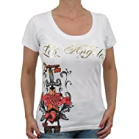 Street Division–Maglietta Lucky Woman (con strass) da ragazza, colore: bianco,
