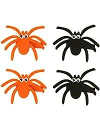 Frcolor Accesorios para el cabello Barrette Spider Design Halloween Barrette (negro y naranja)