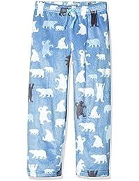 Hatley Lbh Kids Fuzzy Fleece Pants-Blue Bear, Bas de Pyjama Fille
