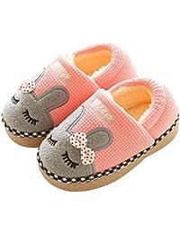479b95834dafb KuaiLu Enfants en Bas âge Animal Chaussons Bottes Bottines Chaussures  Semelle en Caoutchouc Garçons Chaussons Filles