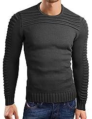 Grin&Bear coup slim sweat shirt tricoté veste cardigan pull homme, GEC340-318