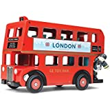 Le Toy Van TV469 - Figura de autobús londinense con conductor, color rojo