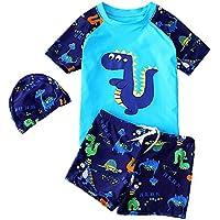 RETON Jungen Badeanzug Bademode Rash Guard Shark Dinosaurier Print Sets mit verschiedenen Schwimm-Ausr/üstung