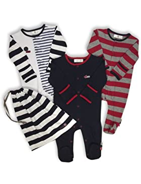 The Essential One - Baby Jungen Schlafanzuge/Schlafanzug/Einteiler/Strampler (3-er Pack mit Beutel) - ESS109